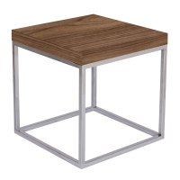 Prairie Walnut + Chrome Modern End Table by TemaHome | Eurway