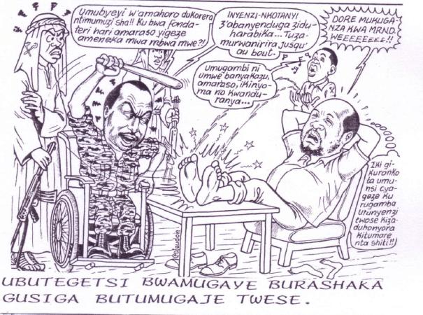 Boniface NTAWUYRTUSHINTEGE torturé par le capitaine SIMBIKANGWA - Umurangi n°5 - 1992