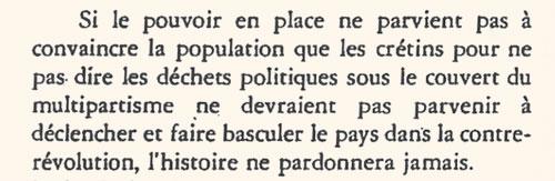 """Extrait page 237 de """"La Guerre d'octobre"""" écrit par Pascal SIMBIKANGWA"""