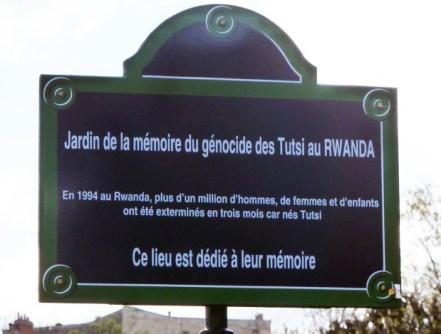 Jardin de la mémoire, Parc de Choisy, Paris