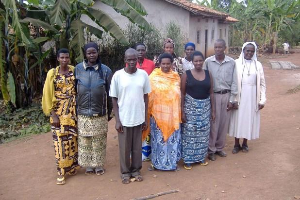 Une partie du groupe des rescapés de Gisagara au Rwanda