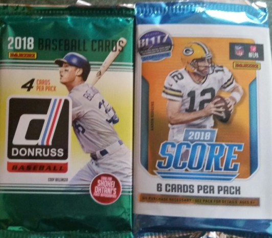 baseball and football cards