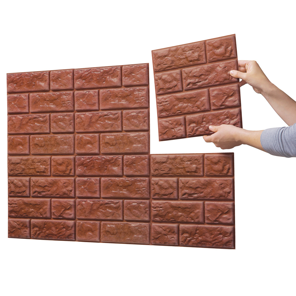 Faux Brick Wall Tile Decals  Set Of 6  eBay
