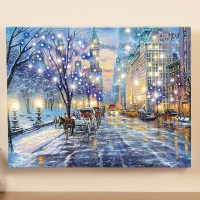 Lighted Central Park Canvas Wall Art from Collections Etc.