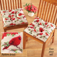 Chair Pads Kitchen Ninja Mega System 1500 Recipes Cardinal Christmas Cushions From Collections Etc