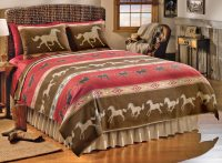 Western Galloping Horses Theme Coverlet Bedding Full/Queen ...