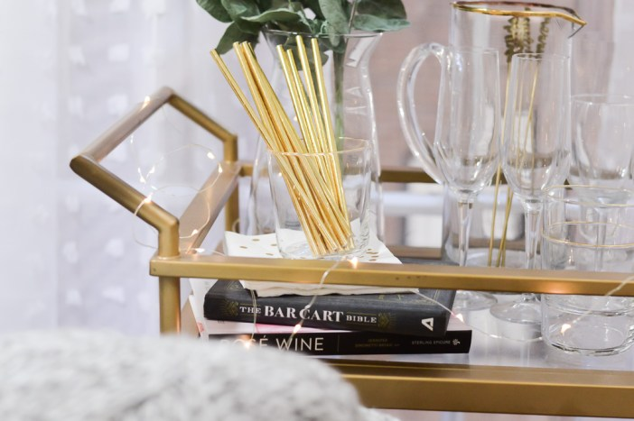 Gold and Girly Bar Cart