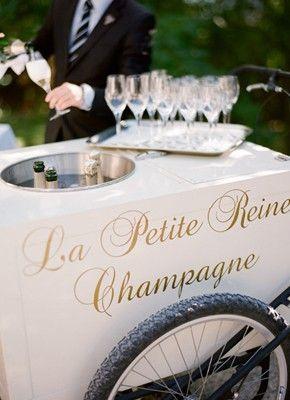 Unique Wedding Vendors Like a Champagne Cart