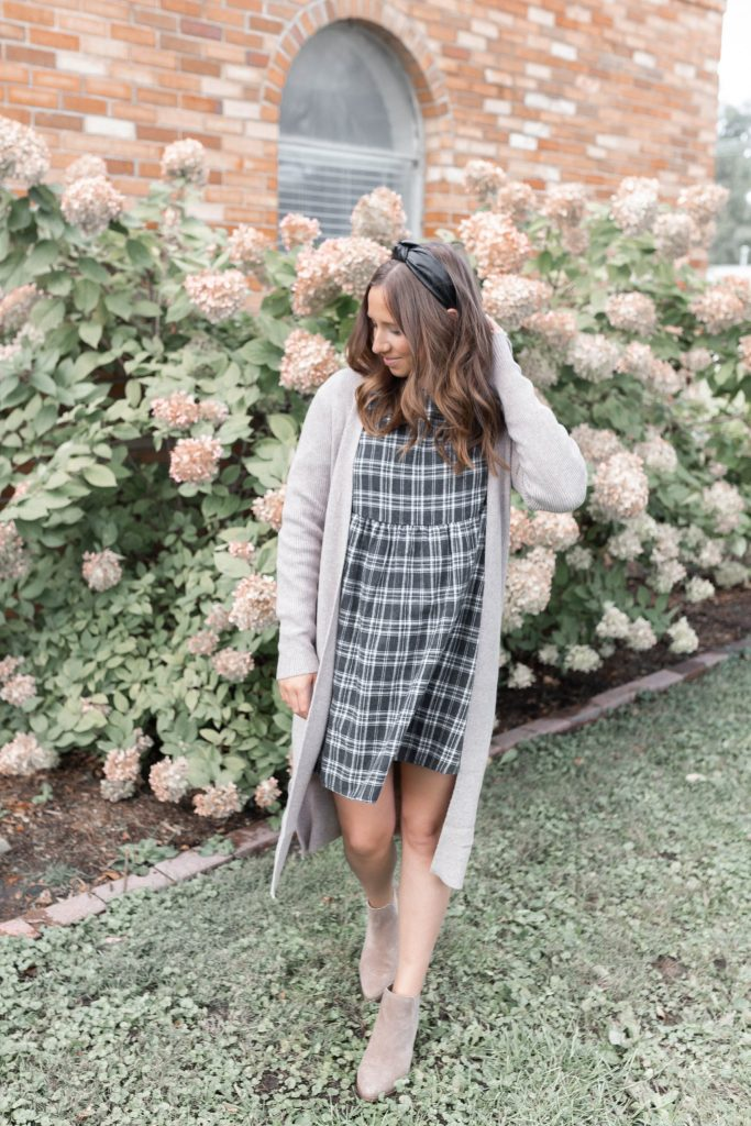 Fall Capsule Wardrobe Inspiration: Versatile Fall Dress with a Duster Cardigan