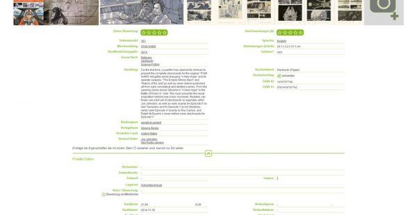 Detailansicht - Bücher (versteckte Eigenschaften offen)