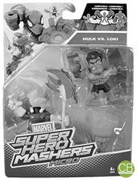 MARVEL Super Hero Mashers Micro - Hulk vs. Loki