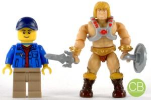 MEGA BLOKS He-Man vs. LEGO Minifigur