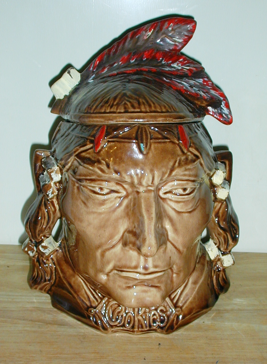 INDIAN BUST CHIEF PONTIAC by Mc COY COLLECTOR COOKIE JAR