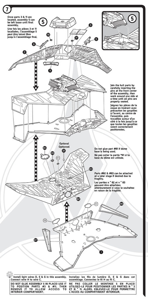 Polar Lights Model Kits: Klingon K't'inga instruction