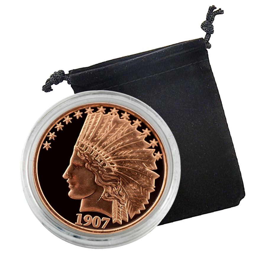 Gold 1 Dollar Coin 2 2 1907