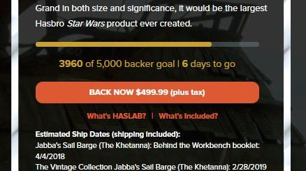 HasLab's Jabba's Sail Barge campaign #BackTheBarge