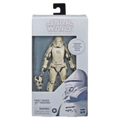 STAR WARS THE BLACK SERIES 6-INCH FIRST ORDER JET TROOPER CARBONIZED COLLECTION Figure - in pck