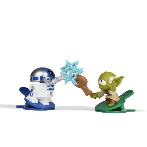 Paris Comic Con Reval- STAR WARS BATTLE BOBBLERS YODA & R2-D2 Figure 2-Pack - oop