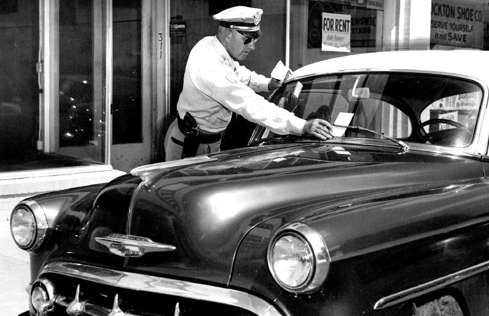 By the 1950s, parking regulations were much easier to enforce thanks to the nifty new meters.Photo courtesy Roth Hall.