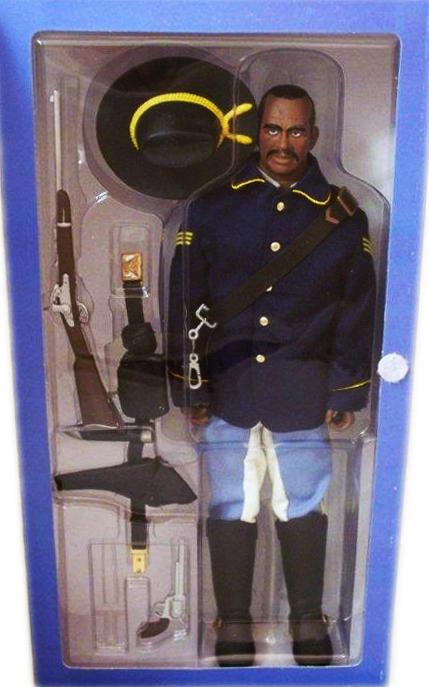A 12-inch action figure representing a 10th U.S. Cavalry First Sergeant Buffalo Solider. Photo by Debbie Behan Garrett.