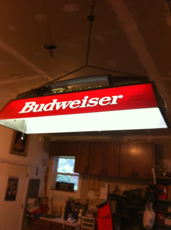 Budweiser Pool Table Light Clydesdale