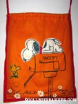 Snoopy on mailbox & Woodstock Laundry Bag
