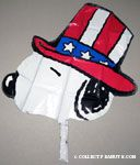 Uncle Sam Snoopy Mylar Balloon