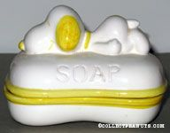 Yellow Snoopy Two-piece Soap Dish