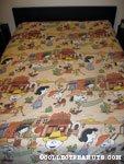 Peanuts Gang Wild West Bedspread