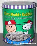 Charlie Brown & Snoopy Chex Muddy Buddies Snack Tin Canister