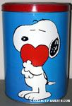 Snoopy Hugging Heart Tin Canister
