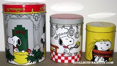 Snoopy's Cafe Set of 3 Tin Canisters