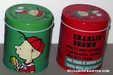 Charlie Brown Set of 2 Tin Canisters