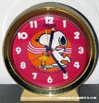 Snoopy & Woodstock on skateboard Desk Clock