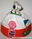 Charlie Brown with Snoopy Golfing Hat