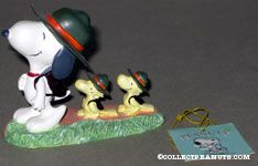Snoopy and Beaglescouts Woodstocks hiking Figurine