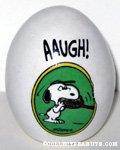 Snoopy biting tennis racquet 'AAUGH!' Egg Figurine