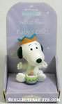 Snoopy with cake 'Baby's One' Figurine