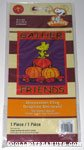 Woodstock on fall pumpkins 'Gather Friends' Flag