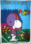 Snoopy & Woodstocks playing football 'School is a kick' Flag