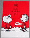 Linus giving Sally card Valentine Card