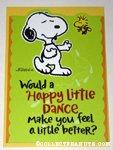 Snoopy & Woodstock 'Happy Little Dance' Greeting Card