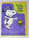 Snoopy & Woodstock dancing 'Fun Together' Greeting Card