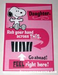 Snoopy 'Daughter' Greeting Card