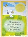 Snoopy & Woodstock Sunbeams Greeting Card