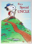 Snoopy on hill 'uncle' Greeting Card