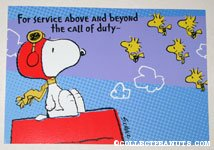 Snoopy Flying Ace & Woodstocks Greeting Card