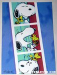 Snoopy & Woodstock photo booth pictures Greeting Card