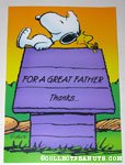 Snoopy & Woodstock on doghouse Father's Day Greeting Card