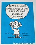 Frieda 'People always expect more of you when you have naturally curly hair' Postcard